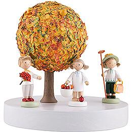 Apple Tree Platform - without Figurines - Autumn - 13 cm / 5.1 inch