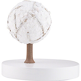 Apfelbaum auf Scheibe - ohne Figuren - Winter - 13 cm