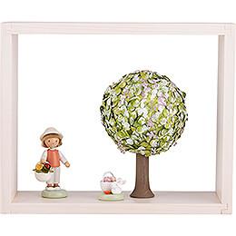 Apfelbaum im Rahmen - ohne Figuren - Frühling - 13,5 cm