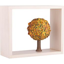Apfelbaum im Rahmen - ohne Figuren - Herbst - 13,5 cm