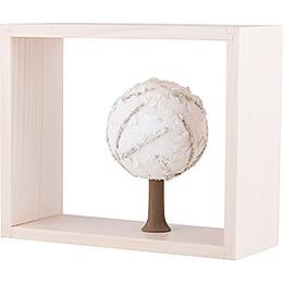 Apfelbaum im Rahmen - ohne Figuren - Winter - 13,5 cm