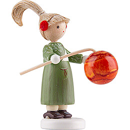 Flax Haired Children Girl with Lampion - Edition Flade & Friends - 4,5 cm / 1.8 inch