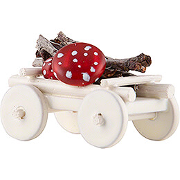 Hand Cart with Toadstools - Edition Flade & Friends - 2 cm / 0.8 inch