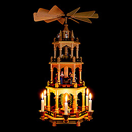 4-Tier Pyramid - Miners - 58 cm / 22.8 inch
