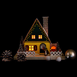 Lighted House - Gingerbread House - 24,5 cm / 9.6 inch