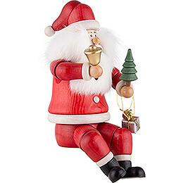 Räuchermännchen Weihnachtsmann Kantensitzer - 24 cm