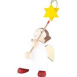 Schutzengel mit Stern am Stab - 26 cm
