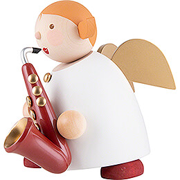 Guardian Angel with Saxophone Red - 16 cm / 6.3 inch