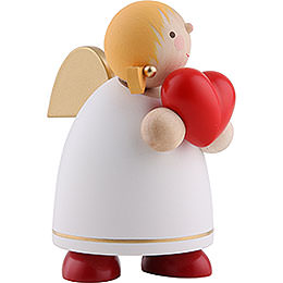 Guardian Angel with Heart, White - 8 cm / 3.1 inch