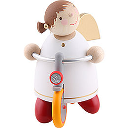 Guardian Angel with Bike - 8 cm / 3.1 inch