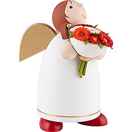 Guardian Angel with Flower Bouquet - 8 cm / 3.1 inch