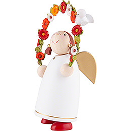 Guardian Angel with Flower Arch - 8 cm / 3.1 inch
