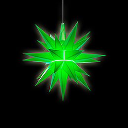 Herrnhuter Stern A1e grün Kunststoff - 13 cm