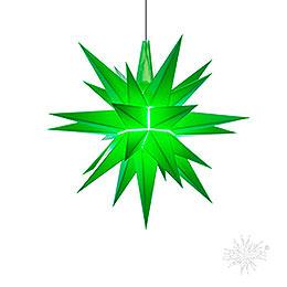 Herrnhuter Bastelstern A1b grün Kunststoff - 13 cm