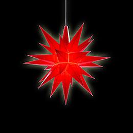 Herrnhuter Stern A1e rot Kunststoff - 13 cm