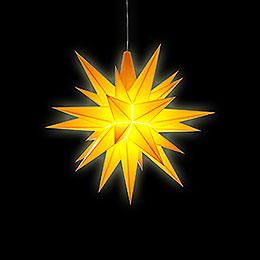 Herrnhuter Stern A1e gelb Kunststoff - 13 cm