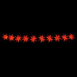 Herrnhuter LED-Sternenkette A1s gelb/rot Kunststoff - 14 m
