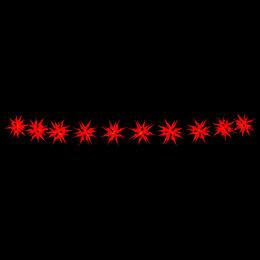 Herrnhuter LED-Sternenkette A1s rot Kunststoff - 14 m