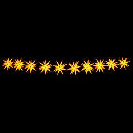 Herrnhuter LED-Sternenkette A1s gelb Kunststoff - 14 m