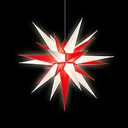 Herrnhuter Stern A7 weiß/rot Kunststoff - 68 cm