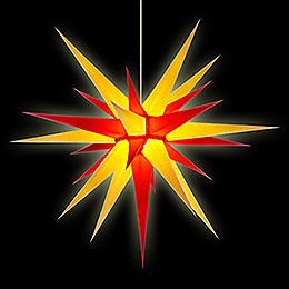 Herrnhuter Moravian Star I8 Yellow/Red Paper - 80cm/31 inch