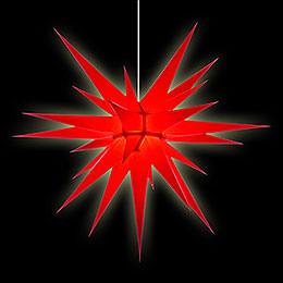 Herrnhuter Stern I8 rot Papier - 80 cm