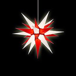 Herrnhuter Moravian Star I6 White/Red Paper - 60 cm / 23.6 inch