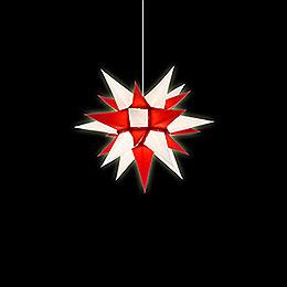 Herrnhuter Stern I4 weiß/rot Papier - 40 cm