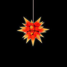 Herrnhuter Stern I4 gelb/roter Kern Papier - 40 cm