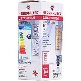 LED Light Bulb for Indoor Stars 29-00-I4 Bis 29-00-I8, E14, 5W