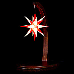 Sternenbogen nussbaum mit A1e weiß-rot - 29 cm