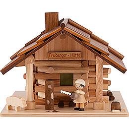 Traditionelles Rauchhaus Freiberger Hütte mit LED - 12,5 cm