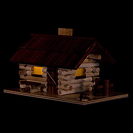 Smoking Hut - Forest Hut with LED - 10 cm / 4 inch