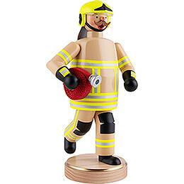Räuchermännchen Feuerwehrmann, beige - 23 cm