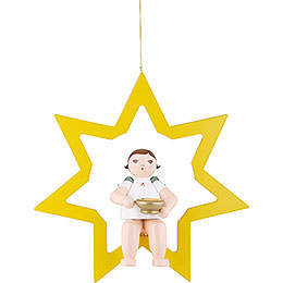 Christmas Angel in Star with Socket for Candle or Lumix LED - 38 cm / 15 inch