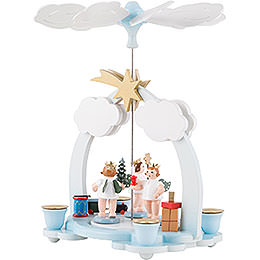 1-Tier Pyramid - Three Angels with Presents - 23 cm / 9 inch