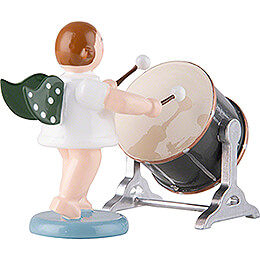 Angel with Big Orchestra Drum - 6,5 cm / 2.6 inch