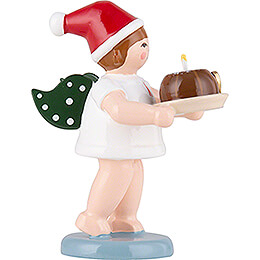 Christmas Angel with Crown and Cake - 6,5 cm / 2.6 inch