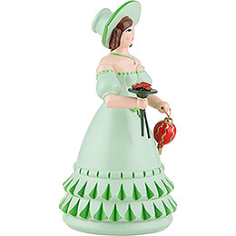 Biedermeier Lady in Green - 11 cm / 4.3 inch