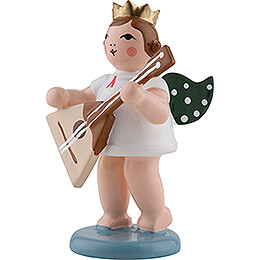 Angel with Crown and Balalaika - 6,5 cm / 2.6 inch