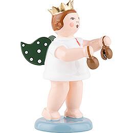 Engel mit Krone und Kastagnetten - 6,5 cm