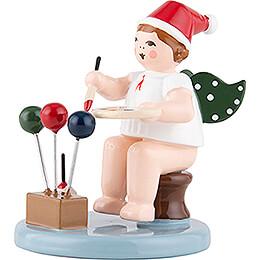 Weihnachtsengel mit Mütze - Baumschmuckmaler - 6,5 cm