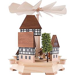 1-stöckige Pyramide Altstadtambiente Stadttor, natur - 32 cm