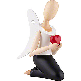Sternkopf Angel with Heart Kneeling - 13 cm / 5.1 inch