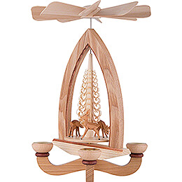 1-Tier Pyramid - Deer - Natural - 28 cm / 11 inch