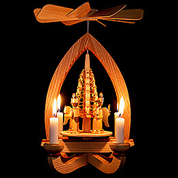 1-Tier Pyramid - Angel & Miner - Natural - 28 cm / 11 inch