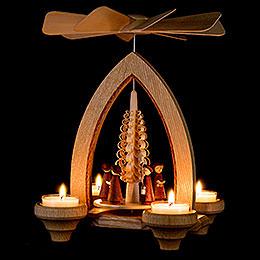 1-stöckige Pyramide Kurrende - natur - 26 cm