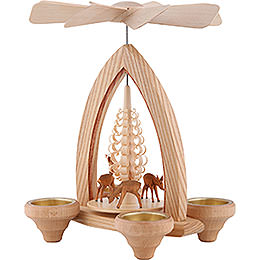 1-Tier Pyramid - Deer - Natural - 26 cm / 10.2 inch
