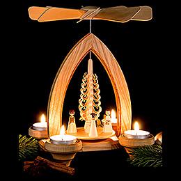 1-stöckige Pyramide Engel - natur - 26 cm