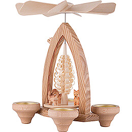 1-Tier Pyramid - Forest Animals - Natural - 26 cm / 10.2 inch